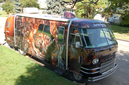 the mobile art gallery -  in her first dress